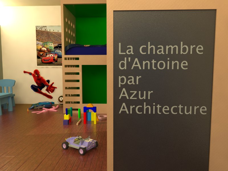 More about Antoine's bedroom